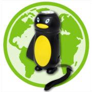 Dinamós gyerek zseblámpa (pingvin)