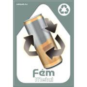 Szelektív hulladékgyűjtés matrica, kültéri (fém,A4)