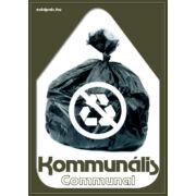 Szelektív hulladékgyűjtés matrica (kommunális,A5)