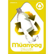 Szelektív hulladékgyűjtés matrica, kültéri (műanyag,A4)