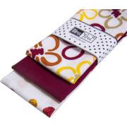 Textil zsebkendő 3 db-os, BlessYou (Női-Happy Flowers)