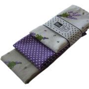Textil zsebkendő 3 db-os, BlessYou (Női-Levendulás)