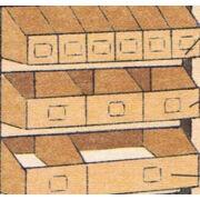 Papír bútor kiegészítő (nyitott fiókok)