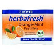 Szájízesítő cukorka Hoyer, bio (narancs-menta)