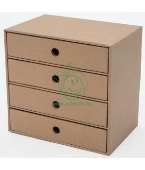 Papír bútor kiegészítő (4 fiókos irattartó)
