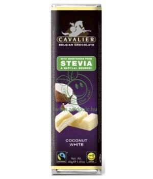 Belga fehércsoki steviával, Cavalier (kókusz,40g)
