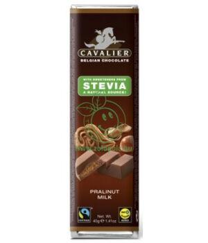 Belga tejcsoki steviával, Cavalier (mogyorókrémes,40g)