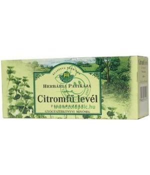 Citromfűlevél filteres tea, Herbária
