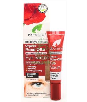 Dr. Organic szemkörnyék ápoló szérum (rózsa)