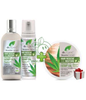 Dr. Organic hajserkentő csomag hajpakolással