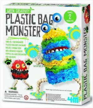 Készíts műanyag zacskó szörnyet