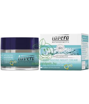 Lavera Basis Sensitive Q10 éjszakai öregedésgátló krém