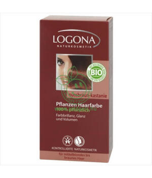 Henna hajfesték por Logona (dióbarna-gesztenye)