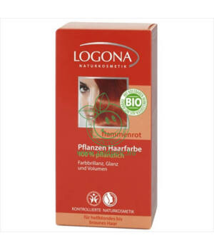 Henna hajfesték por Logona (lángvörös)