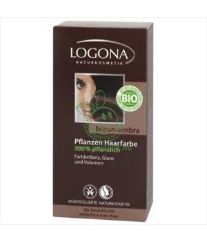 Henna hajfesték por Logona (sötétbarna)