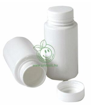 Műanyag csavaros tároló flakon 170ml, fehér