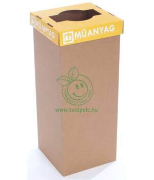 Szelektív kuka erősített kartonból 60l (műanyag-magyar)