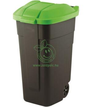 Szelektív kuka (fekete alj,zöld tető)