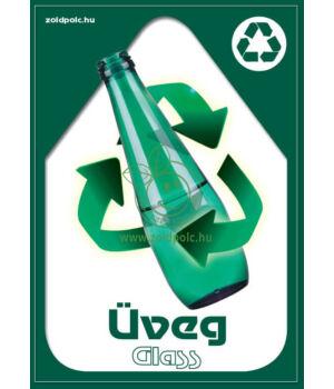 Szelektív hulladékgyűjtés matrica (üveg,A5)