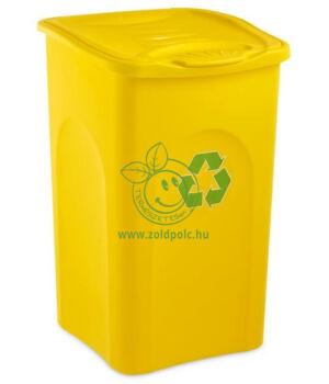 Szelektív tároló Begreen 50l (sárga)