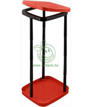 Szelektív zsáktartó állvány műanyagból (piros)