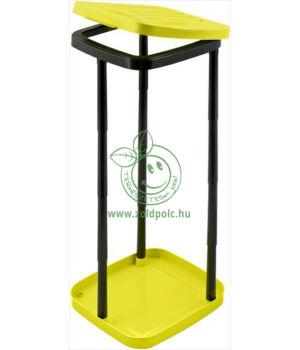 Szelektív zsáktartó állvány műanyagból (sárga)