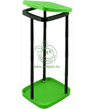 Szelektív zsáktartó állvány műanyagból (zöld)