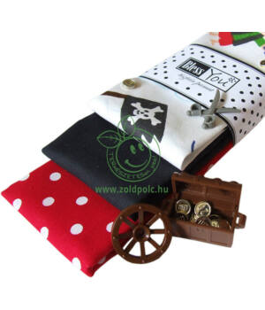Textil zsebkendő 3 db-os, BlessYou (Gyerek-Kalózos)