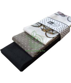 Textil zsebkendő 3 db-os, BlessYou (Női-Biciklis)