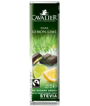 Belga étcsoki steviával, Cavalier (citrom-lime,40g)