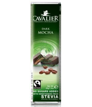 Belga étcsoki steviával, Cavalier (kávés,40g)
