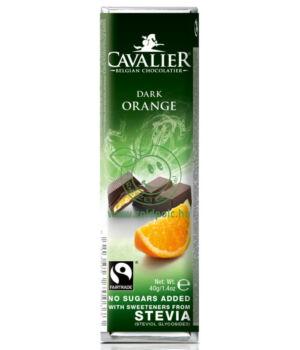 Belga étcsoki steviával, Cavalier (narancsos,40g)