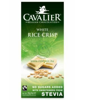 Belga fehércsoki steviával, Cavalier (puffasztott rizses,85g)