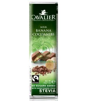 Belga tejcsoki steviával, Cavalier (banán-kakaó,40g)