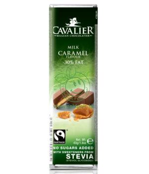 Belga tejcsoki steviával, Cavalier (karamell krémes, 40g)