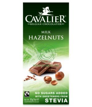 Belga tejcsoki steviával, Cavalier (tört mogyorós,85g)