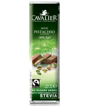 Belga tejcsoki steviával, Cavalier (pisztáciakrémes,40g)