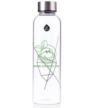 Equa mismatch üveg kulacs (Fekete,550ml)