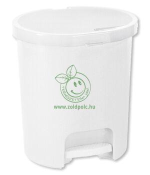 Pedálos szemetes, műanyag Bin 25l (fehér)