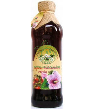 Méhes Mézes szörp, különleges (csipke-hibiszkuszvirág)