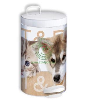 Pedálos szemetes, fém mintás (14l,kutyák és macskák)
