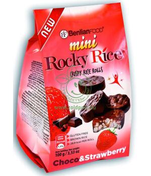 Puffasztott rizsszelet étcsoki bevonattal (epres,100g)