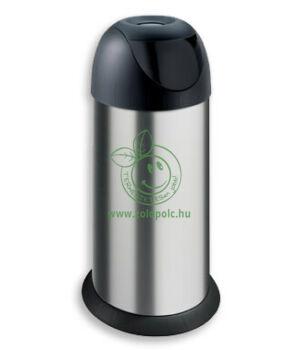 Billenős szemetes rozsdamentes, Push Bin 40l (matt acél)