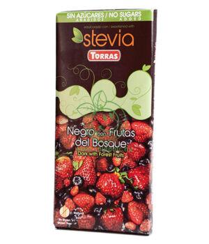 Étcsokoládé steviával, Torras (erdei gyümölcsös,125g)