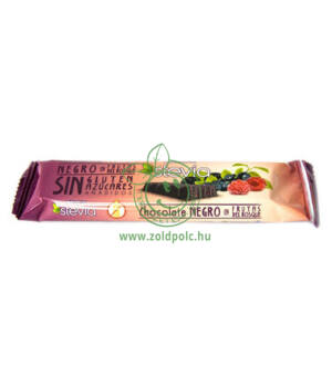 Étcsokoládé steviával, Torras (erdei gyümölcsös,35g)