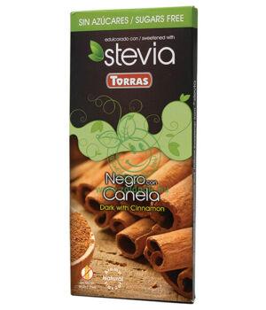 Étcsokoládé steviával, Torras (fahéjas,125g)
