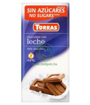 Tejcsokoládé, Torras (natúr)