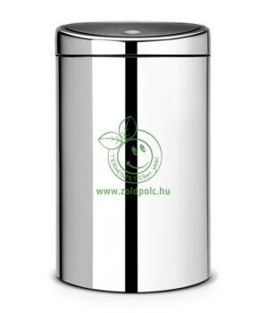 Érintőzáras szemetes, fém henger Touch Bin (40l,ezüstmetál)