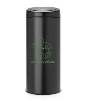 Érintőzáras szemetes, fém henger Touch Bin (30l,matt fekete)