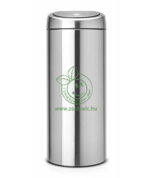 Érintőzáras szemetes, fém henger Touch Bin (30l,matt acél)
